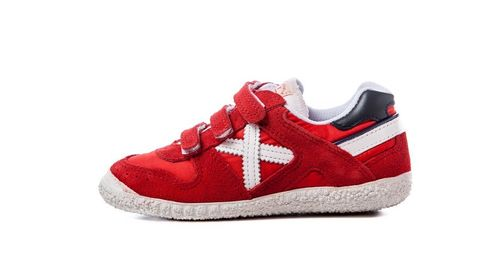 Mini MUNICH Rojo y blanco velcro (8128376)